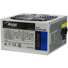 ATX power supply 400W Akyga AK-B1-400 P4 3x SATA 2x Molex PPFC FAN 12cm used
