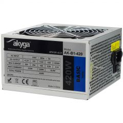ATX power supply 420W Akyga AK-B1-420 P4 3x SATA 2x Molex PPFC FAN 12cm used