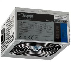 ATX power supply 450W Akyga AK-B1-450 P4 3x SATA 2x Molex PPFC FAN 12cm used