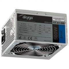 ATX power supply 500W Akyga AK-B1-500 P4 PCI-E 6+2 pin 3x SATA 2x Molex PPFC FAN 12cm used