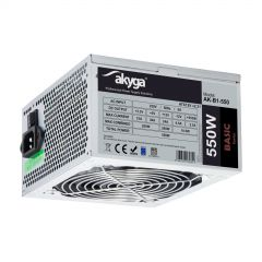 ATX power supply 550W Akyga AK-B1-550 P4 PCI-E 6+2 pin 3x SATA 2x Molex PPFC FAN 12cm