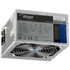 ATX power supply 550W Akyga AK-B1-550 P4 PCI-E 6 pin 3x SATA 2x Molex PPFC FAN 12cm used