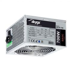 ATX power supply 700W Akyga AK-B1-700 P4+4 2x PCI-E 6+2 pin 5x SATA 2x Molex PPFC FAN 12cm