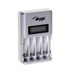 Ładowarka akumulatorków Akyga AK-BC-01 4x AA/AAA LCD