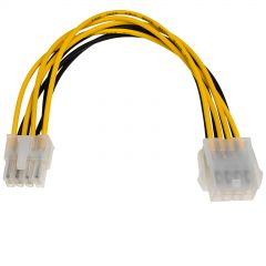 Adapter with cable Akyga AK-CA-08 extension P8 8 pin (f) / P8 8 pin (m) P4+4 20cm