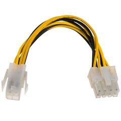 Adapter with cable Akyga AK-CA-10 P4 4 pin (f) / P8 8 pin (m) P4+4 15cm