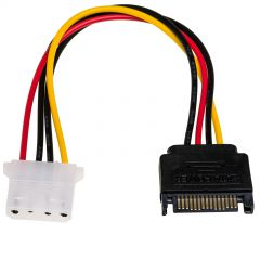 Adapter with cable Akyga AK-CA-11 SATA (m) / Molex (f) 15cm