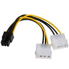 Adapter with cable Akyga AK-CA-13 2x Molex (m) / PCI-E 6 pin (m) 15cm