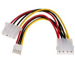 Adapter with cable Akyga AK-CA-14 Molex (m) / Molex (f) / mini Molex (f) 2x 15cm