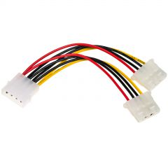 Adapter with cable Akyga AK-CA-15 Molex (m) / 2x Molex (f) 2x 15cm