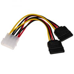 Adapter with cable Akyga AK-CA-16 Molex (m) / 2x SATA (f) 2x 15cm