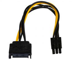 Adapter with cable Akyga AK-CA-30 SATA (m) / PCI-E 6 pin (m) 15cm