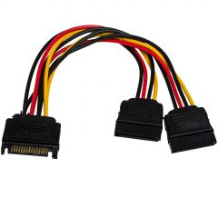 Adapter with cable Akyga AK-CA-31 SATA (m) / 2x SATA (f) 2x 15cm