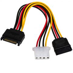 Adapter with cable Akyga AK-CA-32 SATA (m) / Molex (f) / SATA (f) 2x 15cm