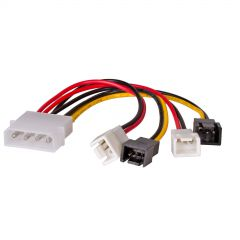 Adapter with cable Akyga AK-CA-34 Molex (m) / 2x 3 pin 12V (m) / 2x 3 pin 5V (m) 4x 15cm