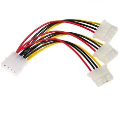 Adapter with cable Akyga AK-CA-40 Molex (m) / 3x Molex (f) 3x 15cm
