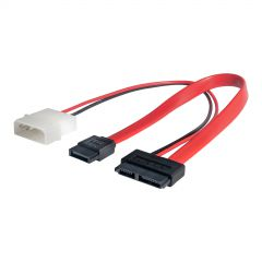 Adapter with cable Akyga AK-CA-45 Slimline SATA (f) / data SATA (f) / Molex (m) 2x 20cm