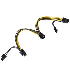 Adapter with cable Akyga AK-CA-55 PCI-E 6 pin (f) / 2x PCI-E 6+2 pin (m) 2x 15cm
