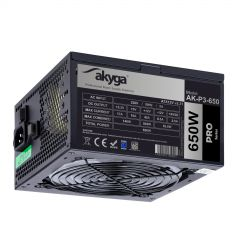 ATX Power Supply 650W Akyga AK-P3-650 P4+4 PCI-E 6 pin 6+2 pin 5x SATA Molex PPFC RGB FAN 12cm