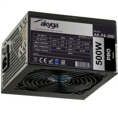 ATX Power Supply 500W Akyga AK-P4-500 Semi-Modular P4+4 PCI-E 6 pin 6+2 pin 5x SATA 2x Molex FAN 12cm