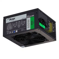 ATX Power Supply 600W Akyga AK-P4-600 Modular P4+4 PCI-E 6 pin 6+2 pin 5x SATA PPFC FAN 12cm - used