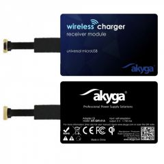 Adapter QI AKYGA AK-QIR-01A microUSB right