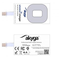 Adapter QI Akyga AK-QIR-08  iPhone 6, 5, 5s, 5c white