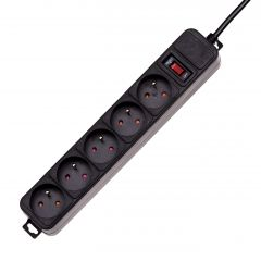 Surge protector Akyga AK-SP-05A 5 socket CEE7/5 switch CEE 7/7 1.8m