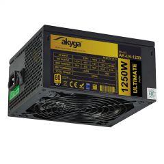 Zasilacz ATX 1250W Akyga AK-U4-1250 P4+4 12x PCI-E 6+2 pin 8x SATA APFC 80+ FAN 14cm