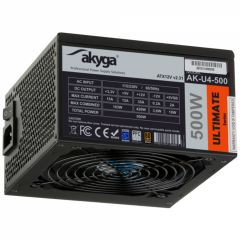 ATX Power Supply 500W Akyga AK-U4-500 P4+4 PCI-E 6 pin 6+2 pin 6x SATA APFC 80+ FAN 12cm