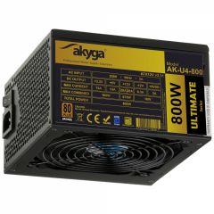ATX Power Supply 800W Akyga AK-U4-800 P4+4 PCI-E 6 pin 6+2 pin 6x SATA APFC 80+ bronze FAN 12cm
