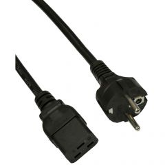 Power cable Akyga AK-UP-04 IEC C19 CEE 7/7 250V/50Hz 3m