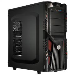 Obudowa Midi ATX Akyga AKY007BR 1x USB 3.0 gamer czarna / czerwona bez PSU