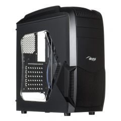 Case Midi ATX Akyga AKY011BG 1x USB 3.0 gamer plexi window w/o PSU + card reader SD / MMC / TF