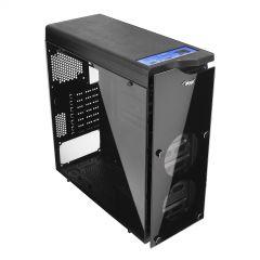 Obudowa Midi ATX Akyga AKY014BK 1x USB 3.0 gamer okno plexi czarna bez PSU