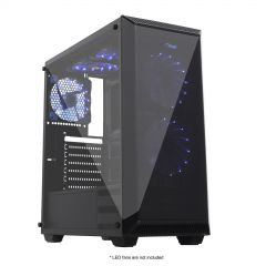 Case Midi ATX Case Midi Gamer ATX Akyga AKY015BK 1x USB 3.0 gamer plexi window w/o PSU - used