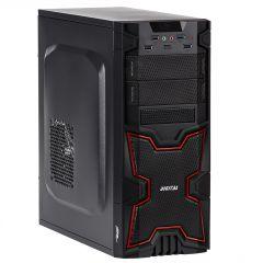 Case Midi ATX Akyga AKY313BR 2x USB 3.0 black / red w/o PSU - used