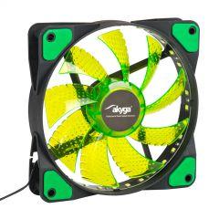 System fan Akyga AW-12E-BG 120mm 33 LED green Molex