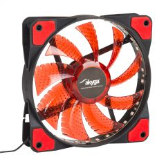 System fan Akyga AW-12E-BR 120mm 33 LED red Molex