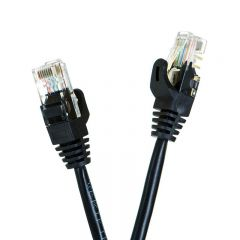 Kabel RJ45 U/UTP Patch Cord Cat.5e 1.5m czarny