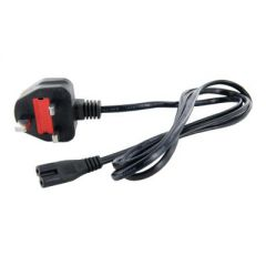 Notebook Power Cord IEC C7 2pin UK plug type G