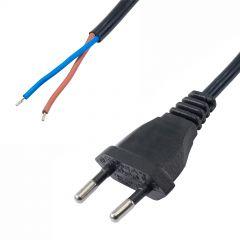 Kabel zasilający Akyga AK-OT-05A CEE 7/16 bez zakończenia 250V/50Hz 2x0.75mm2 CU 1.5m
